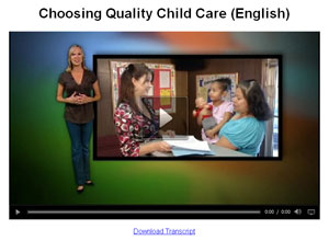 Choosing quality child care video (English)