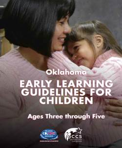 Oklahoma Early Learning Guidelines ages Three through Five ;